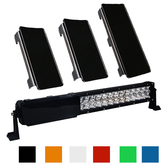 """20"""" inch LED Light Bar Snap On  Protective Lens Cover 2x 6 + 1x 8"""" 6 Colors For 20 22 120W Offroad 4WD Trucks Boat ATV SUV"""