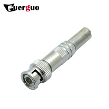 100pcs BNC MALE CONNECTOR WITH SPRING CCTV INDUSTRY PARTS BNC PLUG ADAPTER CONVERTOR