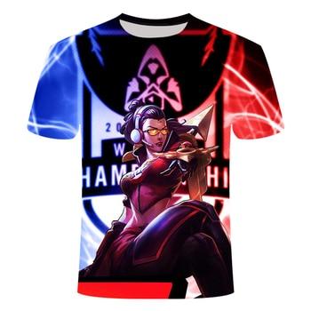 2021 Hot-selling Game League Of Legends 3D Printed Tshirt Yasuo Zed Leesin  Casual T-shirt Short-Sleeved Summer Streetwear 1