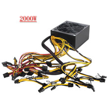 PC Power Supply 2000W Server Mining Machine Source 8 GPU For Bitcoin Miner Support Video Card RX470 RX480 RX580 R9 380 390 A bykski a rx480 x gpu water cooling block for reference design rx470 rx480