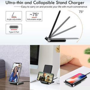 Image 2 - Беспроводное зарядное устройство FDGAO, Складная Подставка для зарядки, кабель USB Type C 15 Вт для iPhone 11 Pro XS XR X 8 Samsung S10 S9 Airpods
