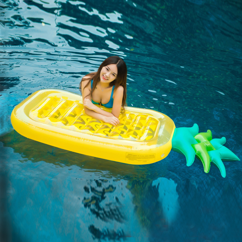 Pineapple Inflatable Swimming Rings Pool Float Swimming Mattres Kid Inflable Float Bed Pool Party Toys Boia Piscina Gonflable