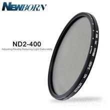 ND Filter37/52/52/58/67/77/82/86MM densidad neutra ajustable ND2 a ND400 para lente de cámara