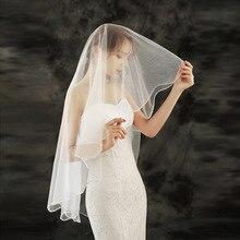 Wedding Veils 2021 Classic Bead Edge One-layer Beaded Blusher Veil Bridal Veils