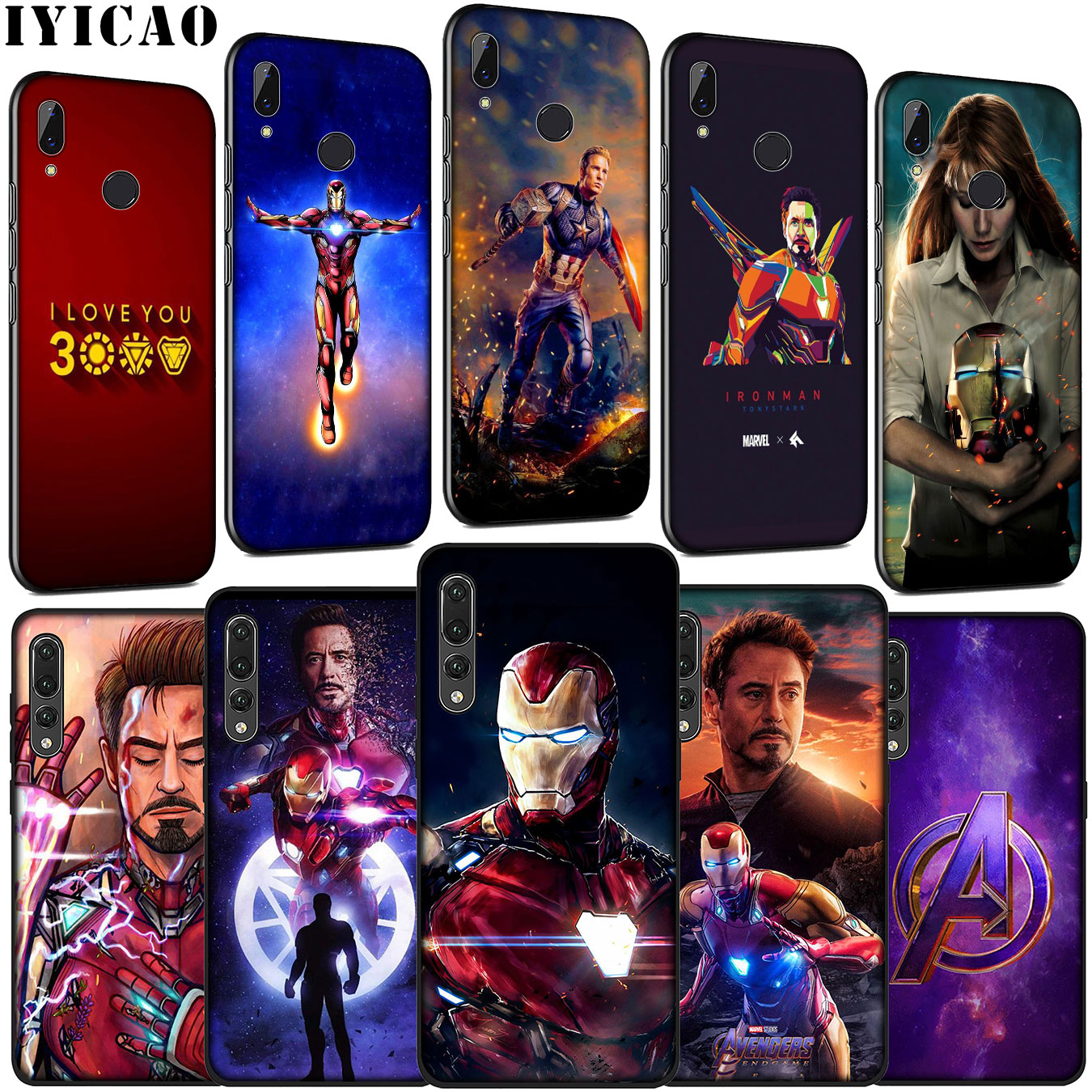 Iron Man Marvel IronMan Soft Silicone Cover Case for Huawei P30 P20 Pro P10 P9 Lite Mini 2017 2016 P Smart Z Plus 2019 image