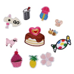 Embroidered Cake Drink Fruit Shoes and Hats Bag Accessories Clothing Accessories Patch Badge Embroidered Cloth Stickers iron ons