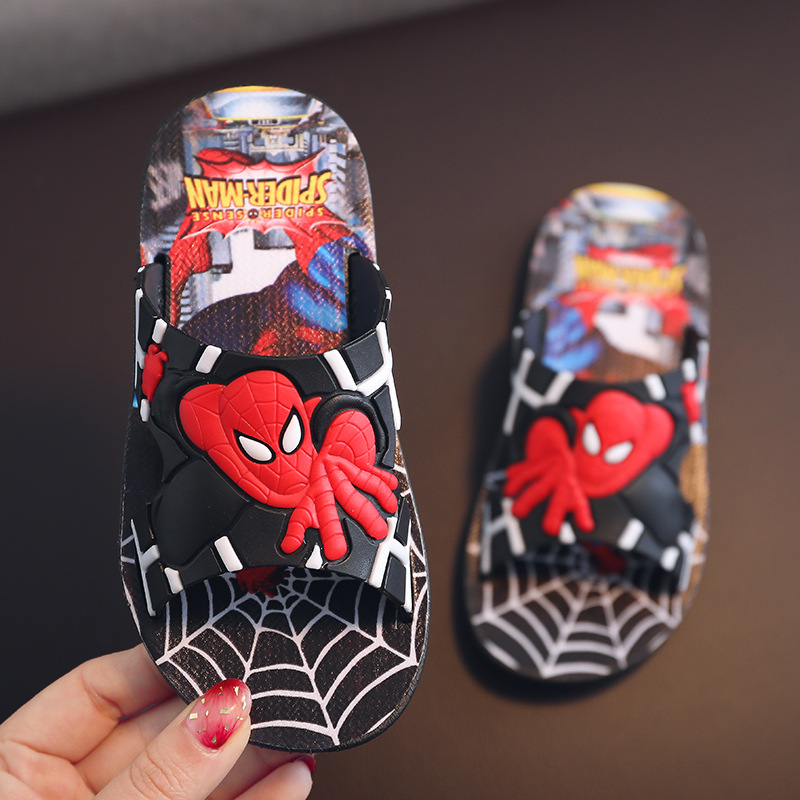 2020 Spiderman Kids Slippers For Toddler Boy Girls Flip Flops Summer Beach Sandals Baby Girls House Slippers Child Casual Shoes