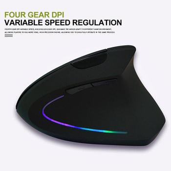 Lewa ręka prawa ręka ergonomiczna mysz pionowa pionowa mysz biurowa bezprzewodowa mysz tanie i dobre opinie HKFZ CN (pochodzenie) 2 4 ghz wireless 150g 1600 Opto-elektroniczny kklj Obie ręce