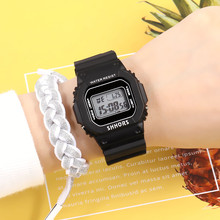 2019 Hot Popular Square Dial Women Student Sports Watches Fashion Casual LED Mul