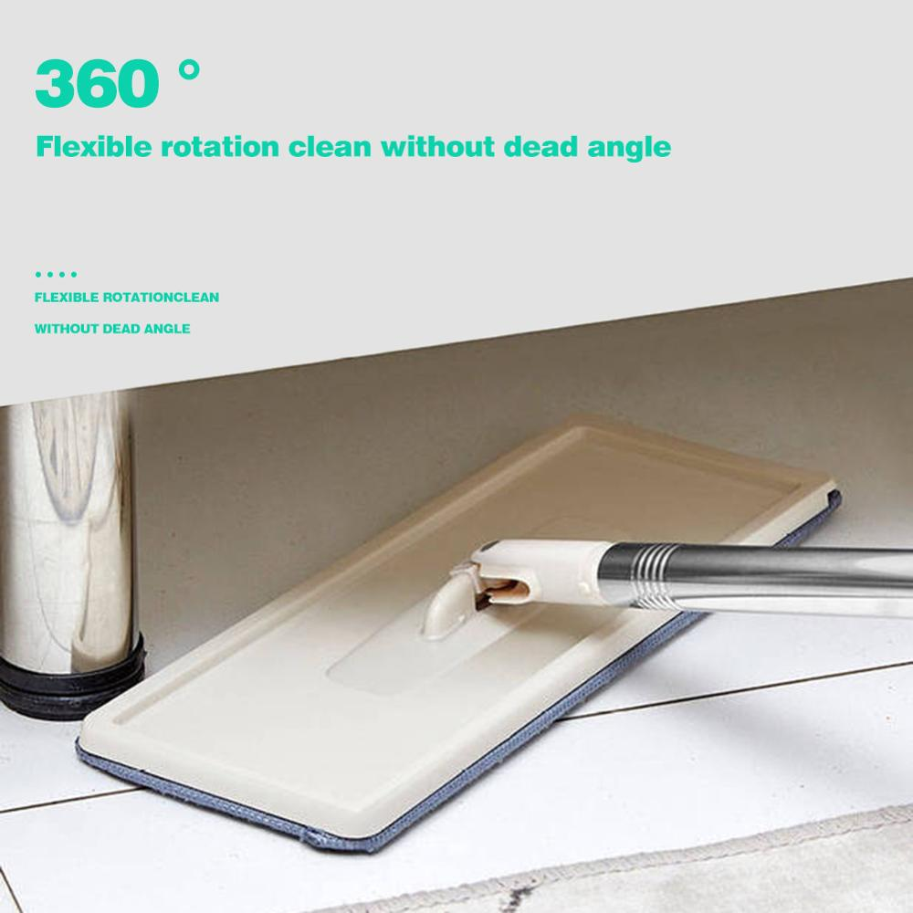 360 Degree Rotating Automatic Spin Mop for Self Floor Washing with Microfiber Pads 2