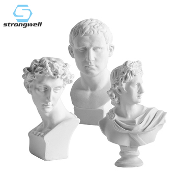 Strongwell World Famous Statue Retro Art Resin Head Skull Sculpture Sketch Abstract Sketching Image Desk Decor Figurine Craft