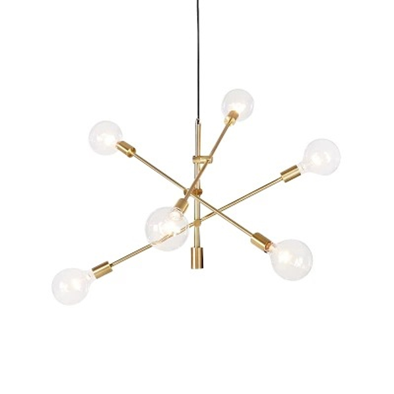 Modern Nordic E27 Black Gold LED Chandelier Lighting Edison Lights Chandeliers Indoor Light Fixtures bedroom lamp room light