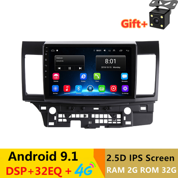 "10.1"" Android 9.1 Car DVD Multimedia Player GPS For MITSUBISHI LANCER 2008-2016 audio car radio stereo navigator bluetooth wifi"