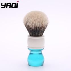Yaqi 24mm Aqua dos bandas tejón pelo afeitado cepillo