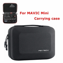 Dji mavic mini bolsa de transporte, portátil, armazenamento para drone, bateria de controle remoto, cartão de memória, acessórios para cabos de dados