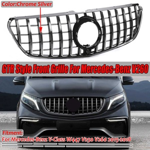 Image 1 - Chrome/Black W447 For GTR Style Grille Grill Car Front Bumper GT Grill Grille For Mercedes For Benz V Class W447 V250 V260 15 18