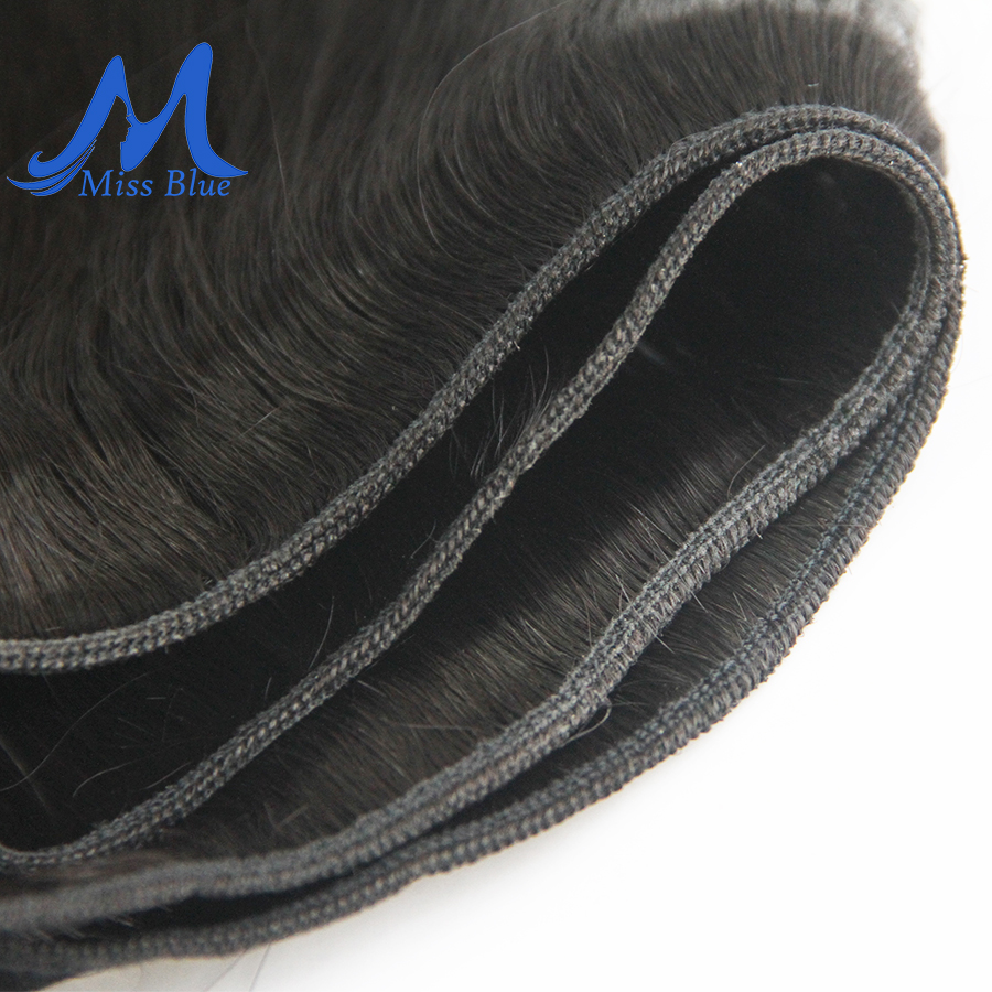 Missblue Peruvian Hair Weave Bundles Straight 100% Human Hair 34 36 38 40 Inch 3/4 Bundles Natural Color Remy Hair Extensions 4