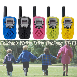 Image 2 - 2pcs/set childrens walkie talkie kids radio mini toys baofeng BF T3 for children kid birthday gift BFT3 Christmas gifts BF T3