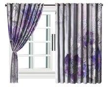 Пользовательские 3d Цветочные занавески фиолетовые ювелирные