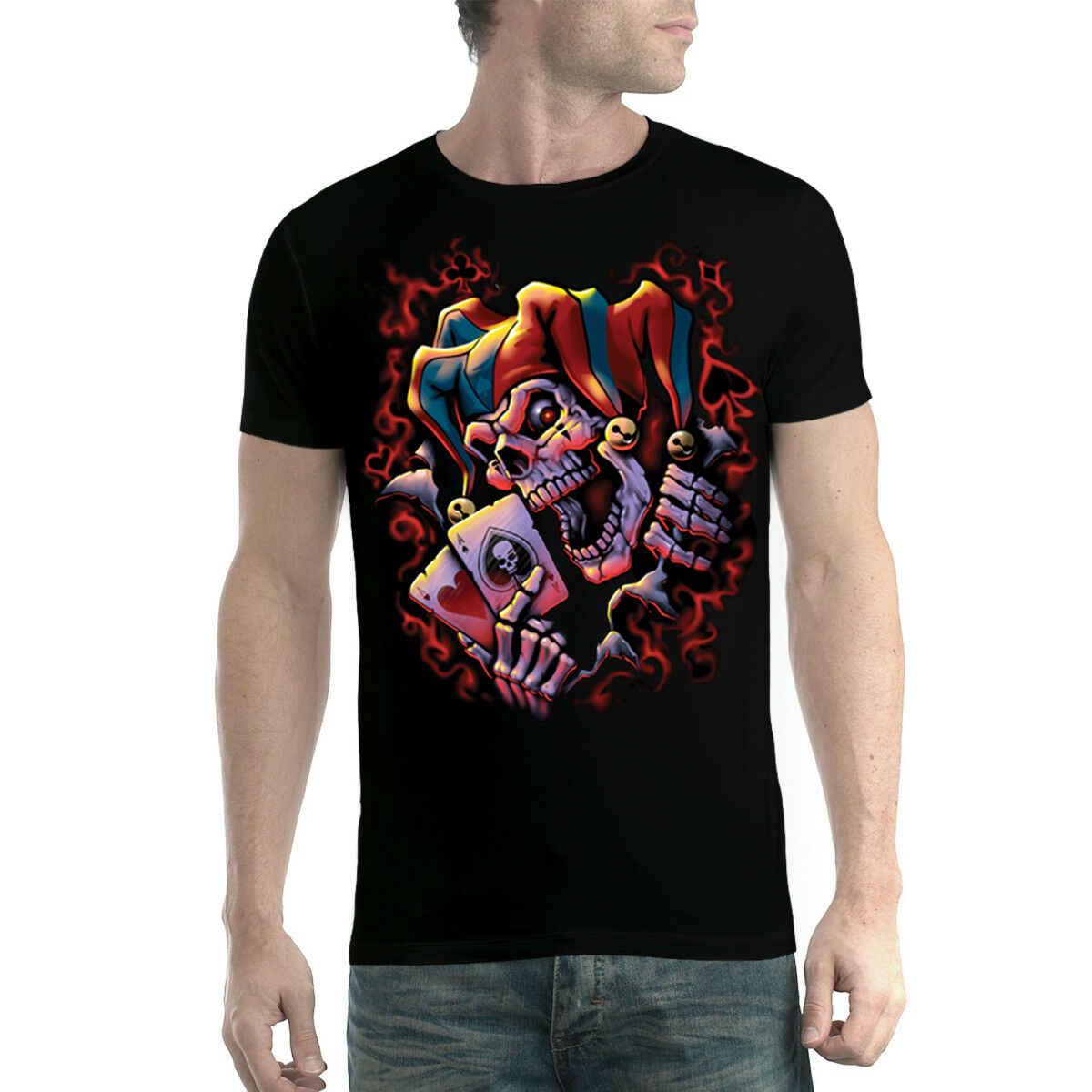 Джокер карты с черепом клоун Мужская футболка New