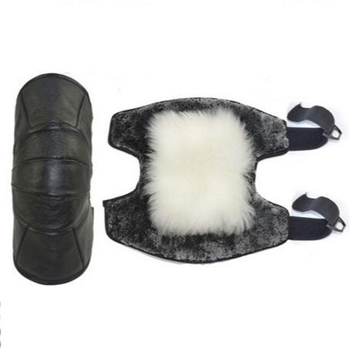 New High Quality  Leather Australian Wool Short Kneets Leather Electric Car Cold Warm Warm Knee Arm  Motorcycle Knees
