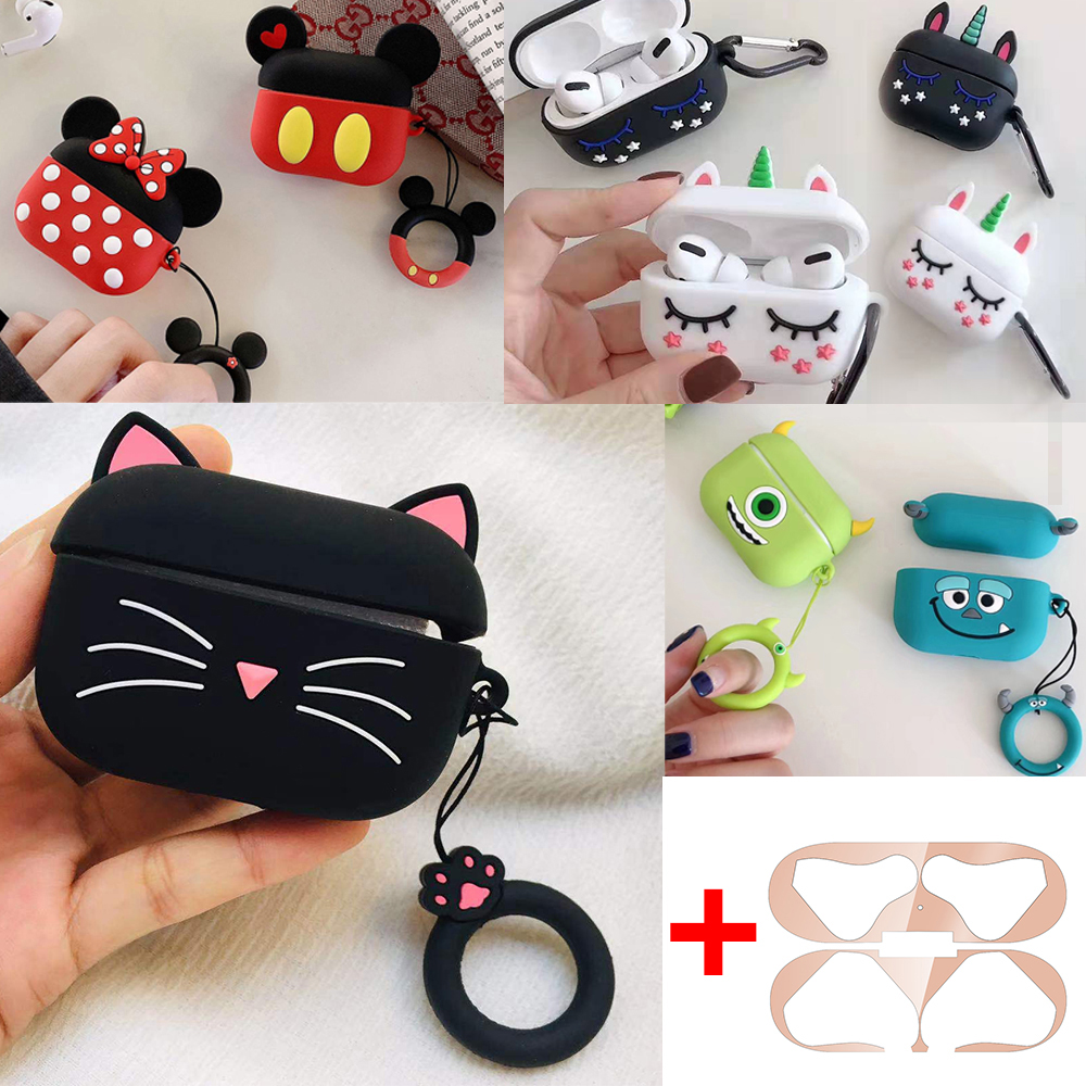 Funda For Airpods Pro Case Cute Cat Cartoon Silicon Protective Case Coque For Apple Air Pods Pro 3 Tws Bluetooth Earphone Case