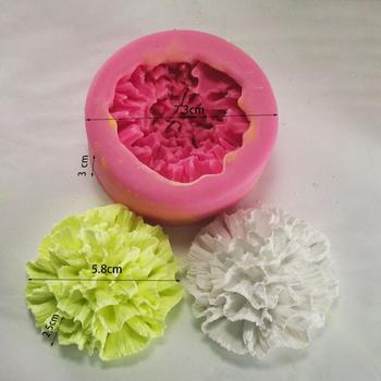 DIY Aroma rzemiosło kwiat goździka świeca silikonowe formy mydło wyrabiane ręcznie podejmowania formy dekoracji ciasto kremówki foremki na słodycze tanie i dobre opinie Oval Silicone 7*7*3cm FW-SM9332 8*8*3cm -40F to +446F(-40c to +230c) Carnation Flower DIY Aroma Crafts