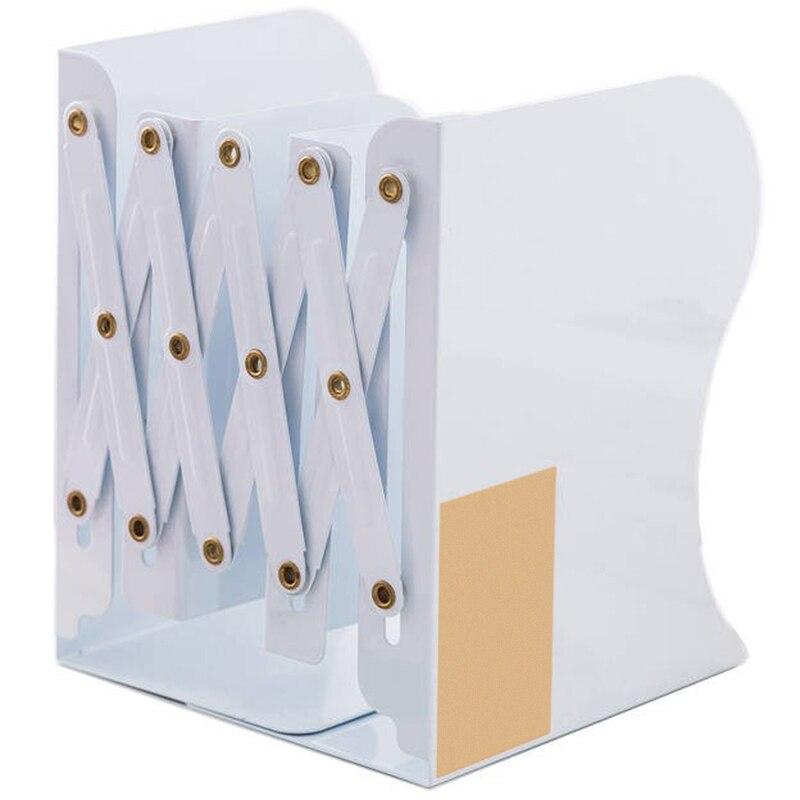 Best Creative Telescopic Folding Bookshelf Metal Appearance Bookshelf Office Cartoon Student Storage Stationery
