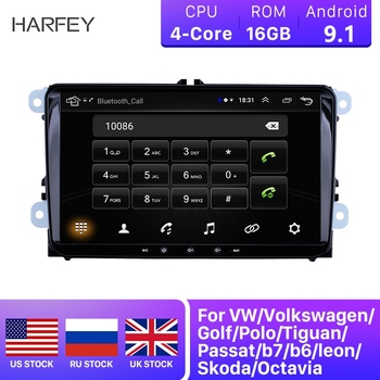 Harfey Car 2Din Navi Android 9.1 HD 9 GPS Auto Stereo For Skoda/Seat/Volkswagen/VW/Passat b7/POLO/GOLF 5 6 Multimedia Player image