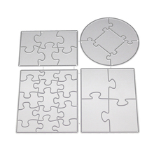 Rectangle Round Puzzle Scrapbooking DIY Birthday Embossing Mould Card Paper Die Stencils Punch Metal Cuts Dies Cutting