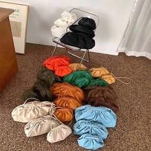 Women Shoulder Bags Fashion Soft Hobos Dumplings Bags Pleate