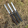 TUNAFIRE  high-end magic pen carbon fiber folding knife  D2 blade EDC Tactical Survival Knives for Hunting Camping 1