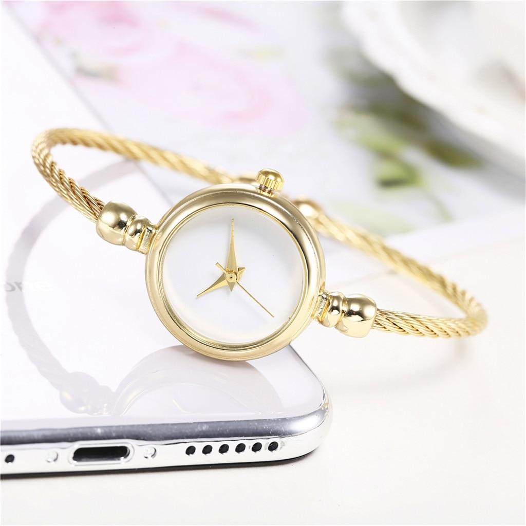 Gold Women Watch Luxury Simple Small Watches Life Waterproof Quartz Wrist Watch Ladies Stainless Steel Wristwatches Waches