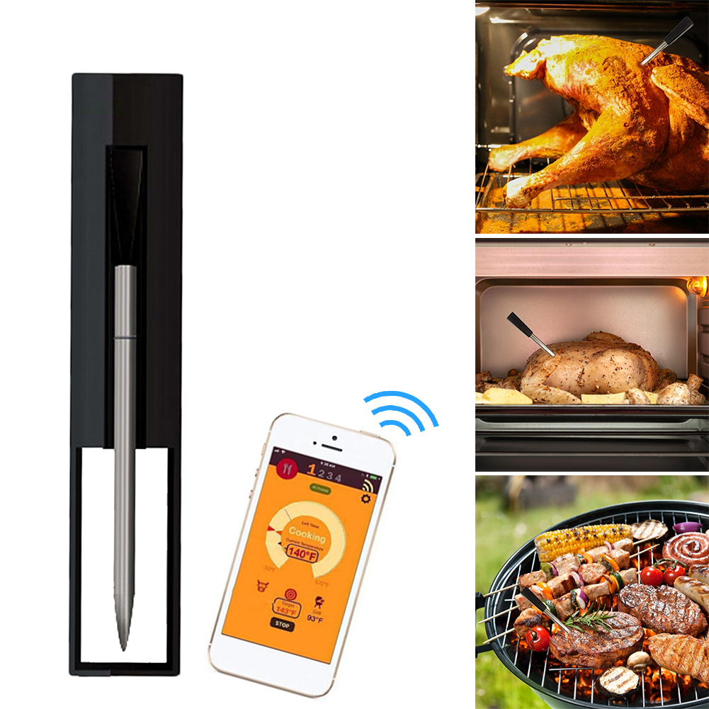 2021 Wireless Meat Food Steak Thermometer for Oven BBQ Smoker Rotisserie Kitchen Smart Digital Bluetooth Barbecue Accessories