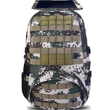 HOWO New Solar Backpacks for Men Large Travel Shoulder Bags Laptop Business Camouflage Sport Rucksack with Detachable Panel 5