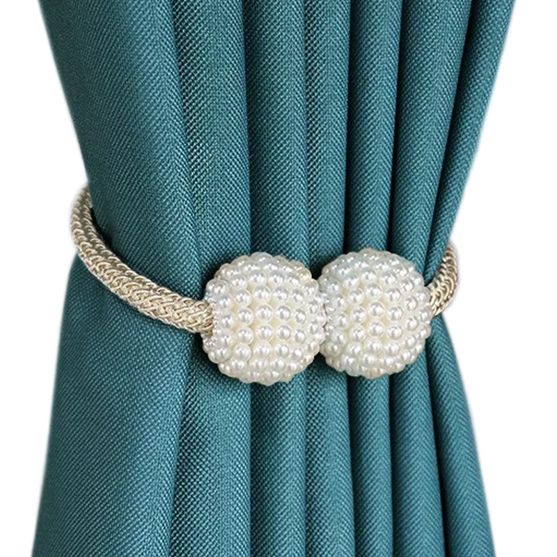 magnet curtain clip pearl ball magnetic curtain tiebacks rings buckle holders clip tie back clips easy curtain decoration