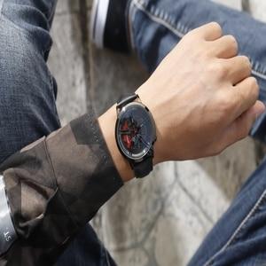 Image 5 - SANDA Top Brand Fashion Men Watch Premium Quartz Movement Wheel Wristwatch Leather Strap Life Waterproof Gifts Montre Homme 1040