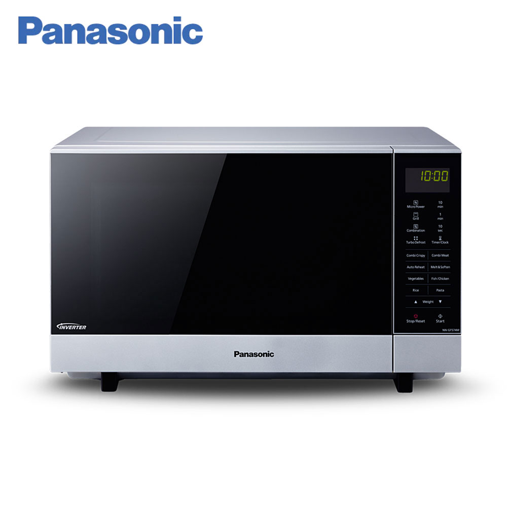 Microwave Ovens Panasonic NN-GF574MZPE timer aerogrill panel  Inverter Grilling Cooking home kitchen appliances