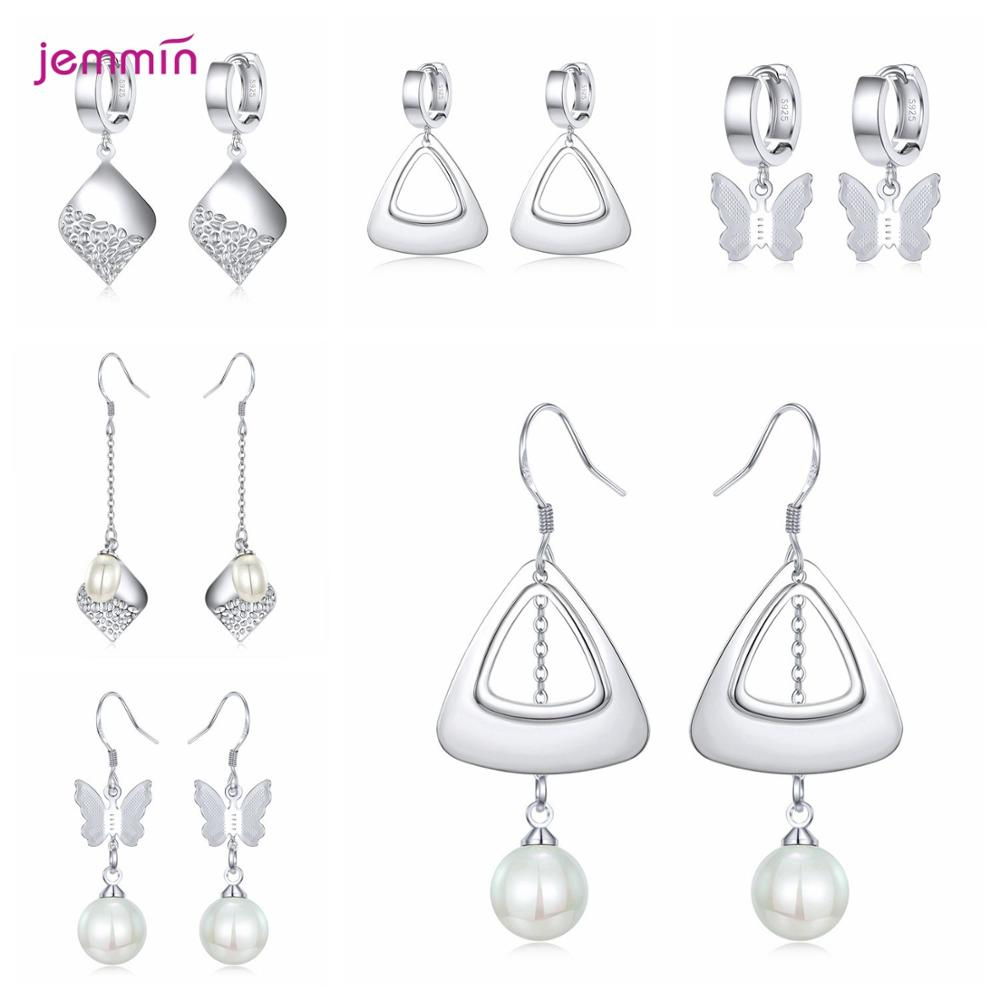 New Arrivals Genuine 925 Sterling Silver Earrings Multiple Models Option Latest Fashion Jewelry Gift For Women Girls Wholesale