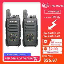 2PCS RETEVIS RT22S FRS Dustproof 2W Two Way Radio Portable Station Ultra-thin VOX Walkie Talkie USB charging Electricity Display