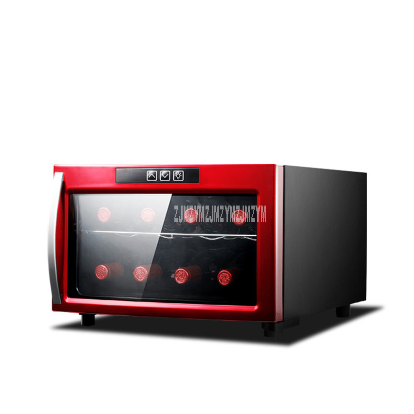 JC-23AJ 23L 2 Layer Mini Red Wine Refrigerator Air Cooling Portable Electric Cigar Tea Thermostatic Cold Storage Wine Cabinet