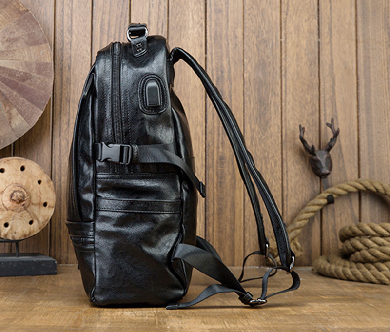 tendência de personalidade masculina, mochila de couro masculino