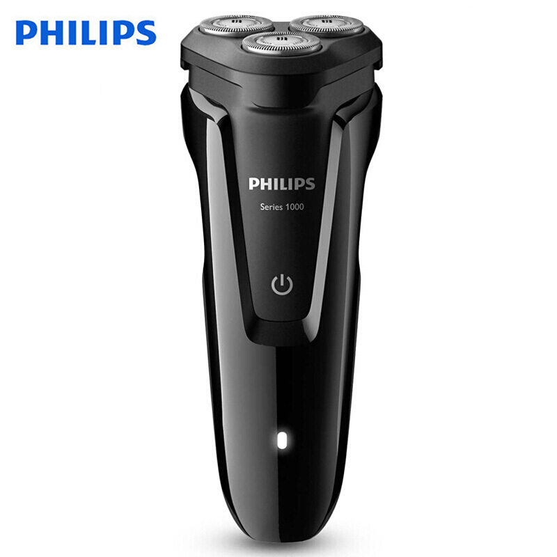 Original Philips Electric Shaver S1010 Rotary Rechargeable Washable With Three Floating Heads For Men's Beard Trimmer
