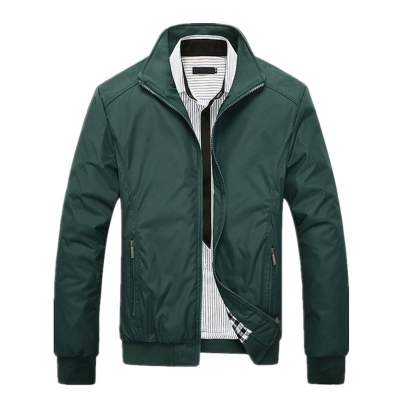 Autumn Men's Casual Jacket Business Plus Size Solid Coat Breathable Winter Warm Quality Clothing Zipper Pocket Top Oversized 5xl