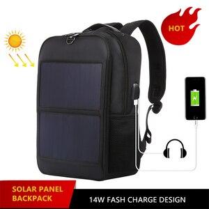 Image 5 - Solar Lade Panel Rucksack Männer Geschäftsleute Laptop Tasche High tec Zurück Pack Anti diebstahl Überlegene Super Cool Verschiedene distinctive