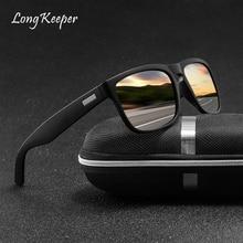 LongKeeper High Quality New Sunglasses Men Women Mirror Polarized Glasses UV400 Mens Driving gafas Unisex Sun oculos