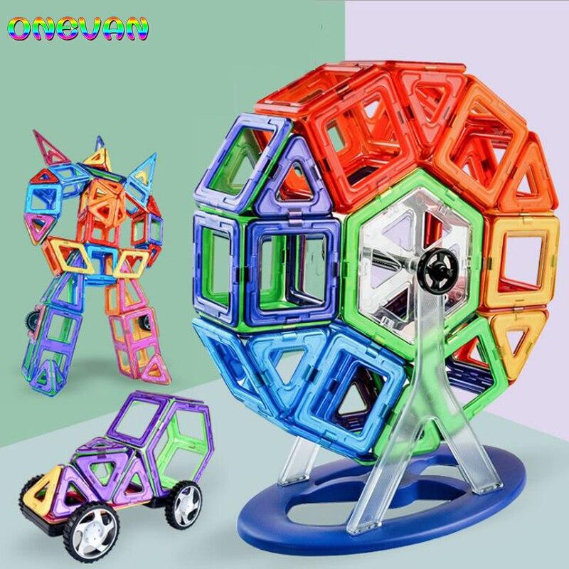 Bloques de construcción magnéticos de 30-252 uds para niños, DIY, triángulo magnético, cuadrado, bloques de construcción magnéticos, juego de diseñador, juguetes magnéticos