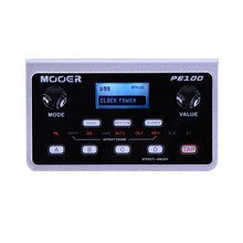 MOOER PE100 Multi-effects Processor Guitar Effect Pedal 39 Types Effects Guitar Pedal 40 Drum Patterns 10 Metronomes Tap Tempo