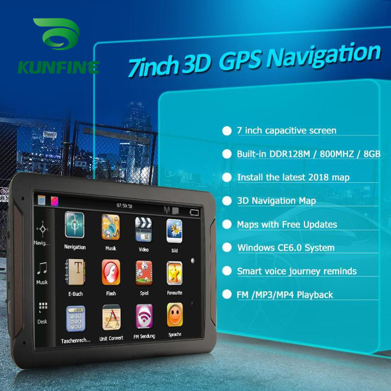 Android Car DVR Navigation With FM Radio 8GB 512M Truck GPS Navigators Rear View Camera Screen Free Map Upgrade Q8  (3)