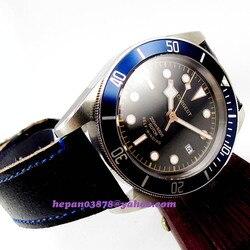 41mm Corgeut luksusowy mechaniczny automatyczny zegarek na rękę Miyota mężczyźni diver 200m odporność na wodę niebieski wkładka Bezel sapphire P139